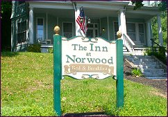 Our Inn at Norwood Sign